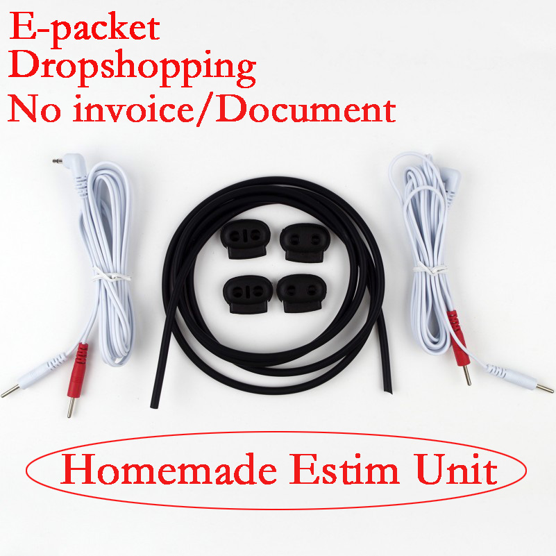 Conductive Rubber Kit With 2-in-1 TENS Pinwires Cables CBT Adult Sex Games DIY Electrodes