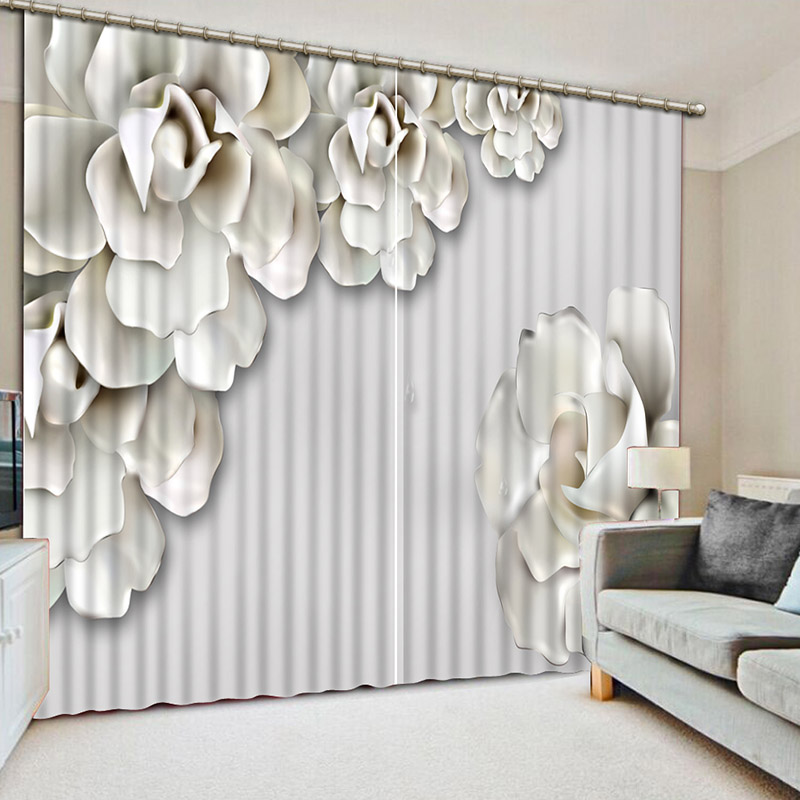 NoEnName_Null 3D Refined Elegant Blackout Curtains Noble 3D Window Curtains  Bedroom Living Room Drapes Cortinas De