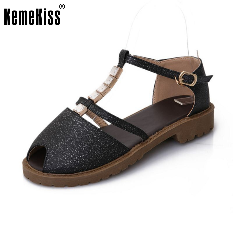 New Fashion Summer Open Toe T-Strap Women Shoes Flat Sandals High Quality Flats Women Footwear Shoes Size 34-43 PA00792 new 2015 fashion high quality lazy shoes women colorful flat shoes women s flats womens spring summer shoes size eu35 40wsh488