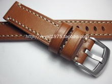 цена на High Quality Genuine Calf Leather For Seiko Watch strap 18mm 19mm 20mm 21mm 22mm Men / Women Watchband Yellow Brown Watch band