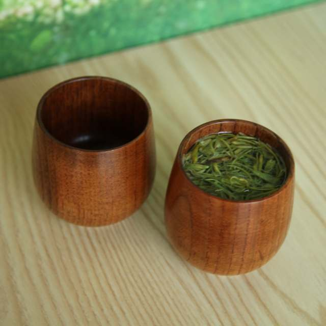 Placeholder Green Tea Cup An Style Natural Jujube Wood Primitive Handmade Spruce Wooden Breakfast
