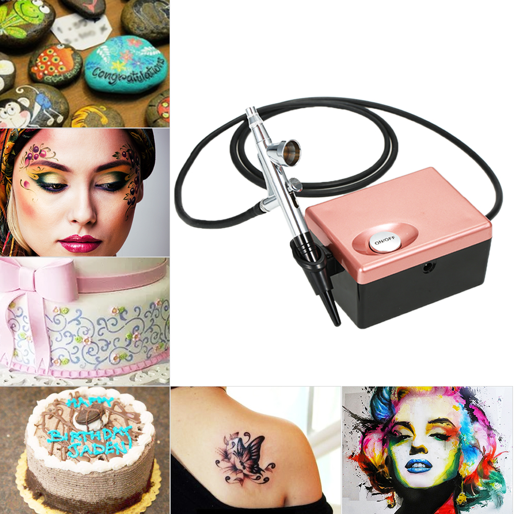 Luminess Air Basic Airbrush System Art Beauty Face Painting Body Glitter Makeup Cosmetic Starter Kit With Mini Air Compressor