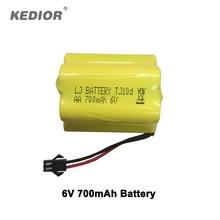 Kedior 1:18 accesorios de Coches de Control Remoto 6 V 700 mAh batería para truco Anfibio rc piezas de coches