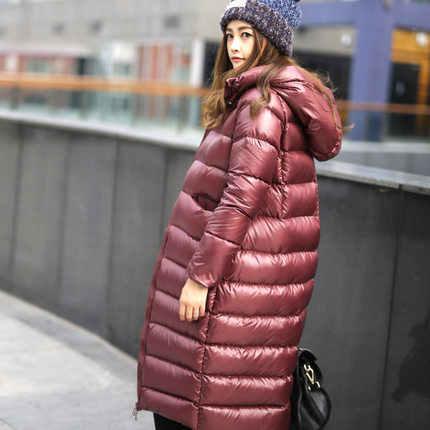 AYUNSUE парки mujer invierno; коллекция 2019 года новые теплые thincking длинные легкий пуховик для Для женщин куртка с капюшоном Женский Пальто LX1011