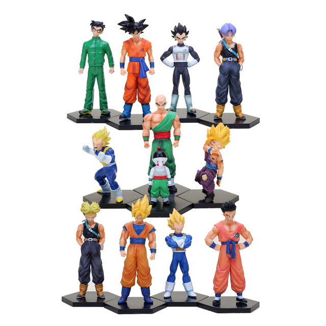 Dragon Ball Z Action Figures Vegeta Trunks Yamcha Son Goku Super