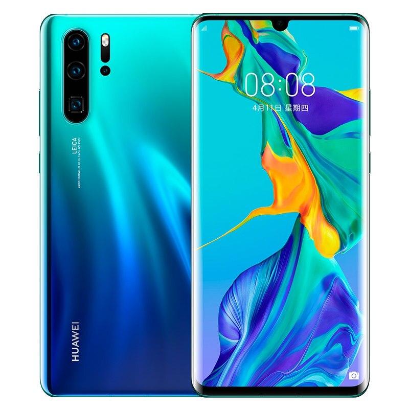 ROM mondial HUAWEI P30 Pro 8GB 512GB téléphone portable plein écran NFC Smartphone Octa Core barre Android FHD + Kirin 980 5 caméras - 4