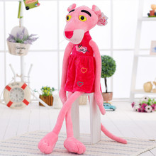 21.7 inch Hot Sale Wear Clothes Lovely Leopard Wave Of Pink Panther Plush Toys T-shirts Pink Pinkpanther Doll Christmas Birthday