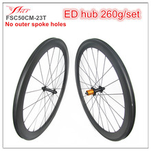 Factory Price! Farsports carbon wheel 50mm x 23mm clincher bicycle wheelset Edhub Sapim cx-ray spoke Sils nipple UD Matte