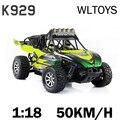 Nova Wltoys K929 RC Caminhão 1:18 Proporcional Elétrico Off-road de Alta Velocidade 50 KM/H 4WD 2.4 GHz Carro de Corrida pronto Para Ir