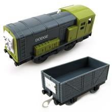 T0204 Electric Thomas and friend Dodge with a Carriage random Trackmaster engine Motorized train Chinldren child