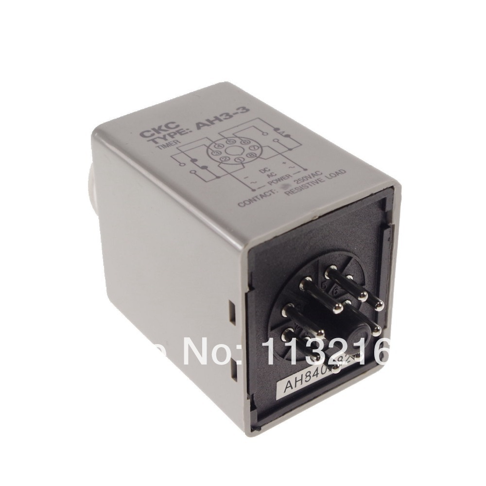 hight resolution of 60 min power on time delay ah3 3 3a timer relay with 8 pin socket base