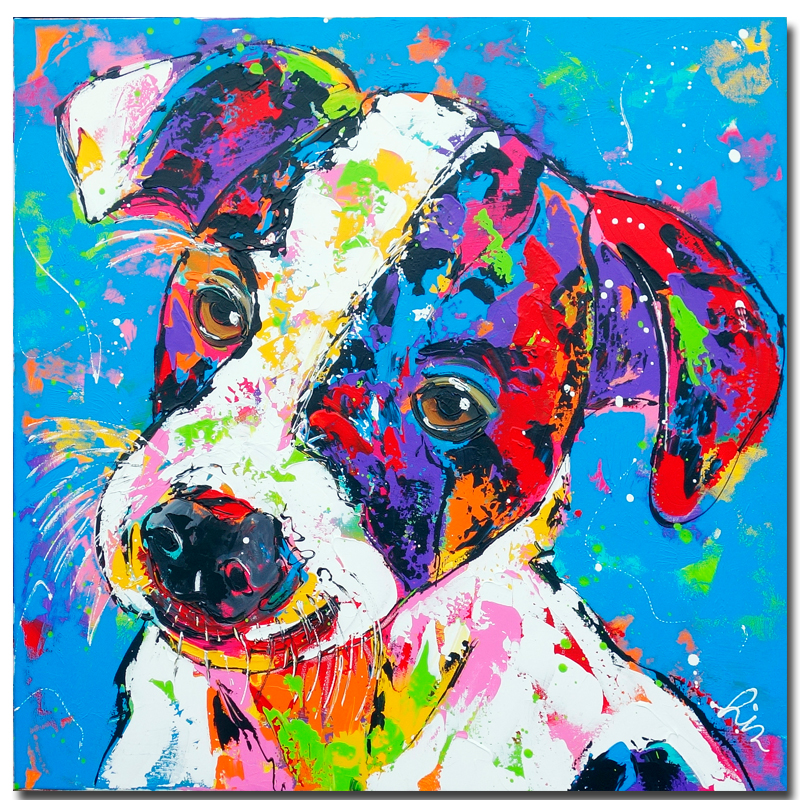 Home goods wall art lovely dog canvas printed oil painting for Home good wall decor