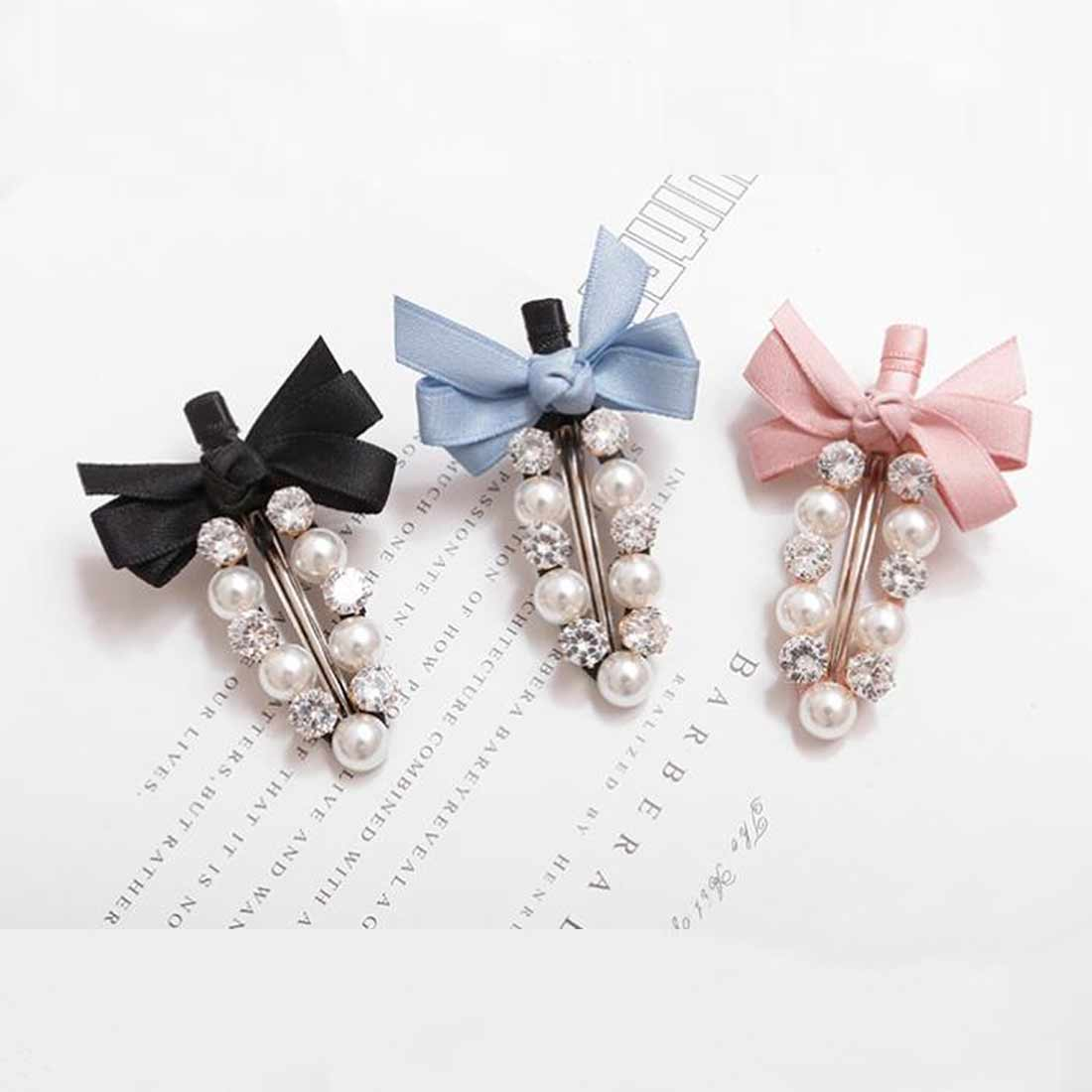 Fashion handmade Gold Color 1PC Pearl Imitation Hair Clip Snap Barrette Stick Cutey Hair Styling Accessories in Women 39 s Hair Accessories from Apparel Accessories