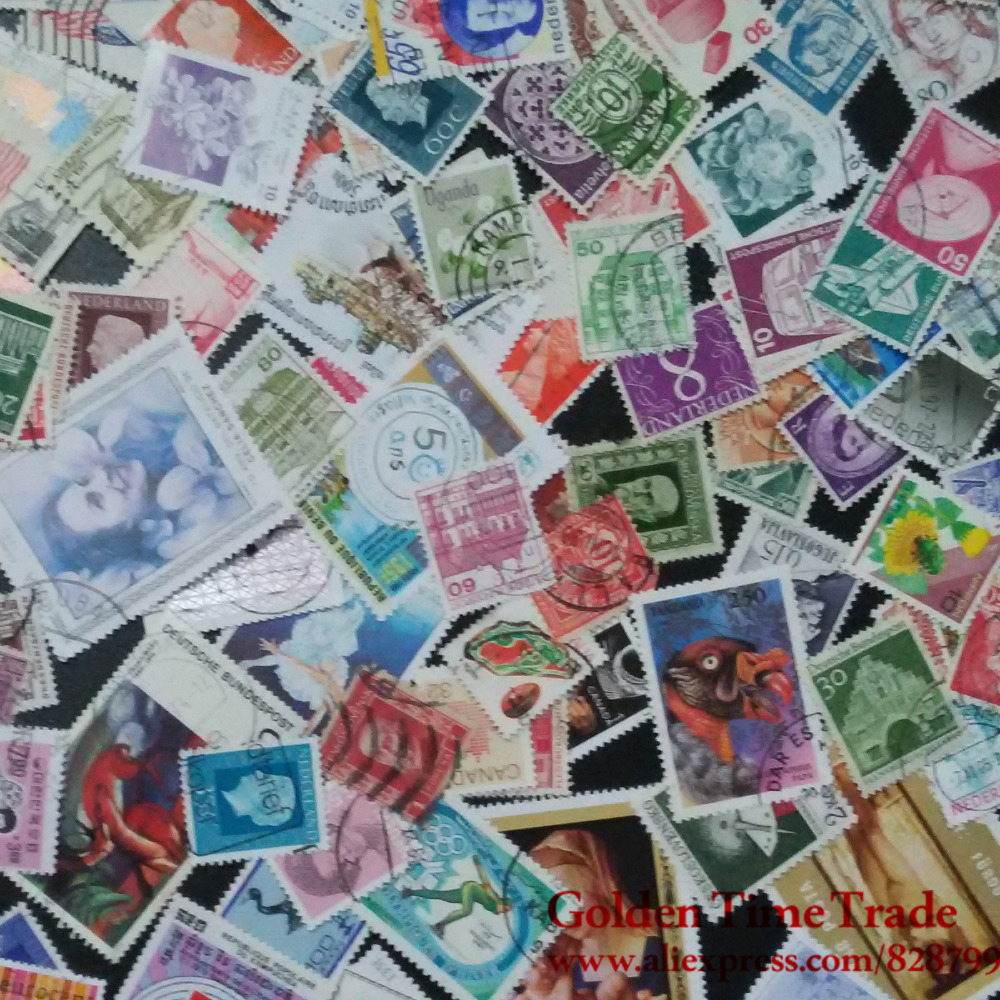 Набор марок со всего мира | Aliexpress