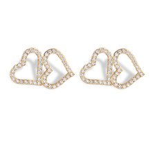 2018 Elegant Jewelry Exquisite 925 Sterling Silver Stud Earrings Modern Sweet Love Heart Ear Stud Earrings For Women Bijoux Gift