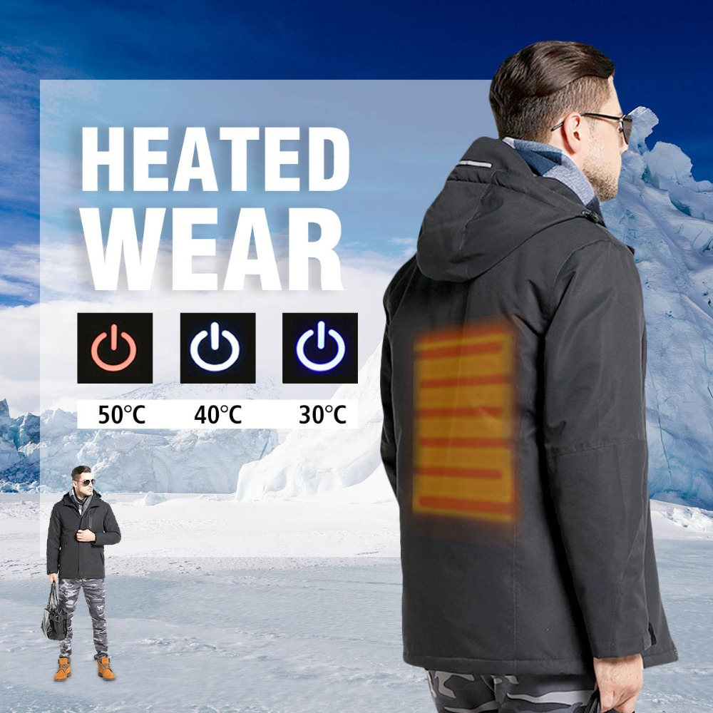 NEW Man Woman Electronic Intelligent Heating USB Hooded Heated Work Jacket Coats Safety Clothing Temperature Control the intelligent woman