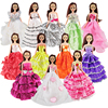 5 Pcs Random Wedding Princess Dresses Mixed Style Dress Colorful Clothes For Barbie Doll Doll Accessories