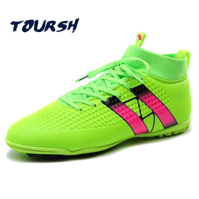 04a59266 TOURSH Indoor Futsal Botas de Fútbol Zapatillas de deporte de Los Hombres  zapatos de Fútbol Baratas