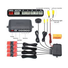 4 Sensors Black White Gray Silver Blue Red Car Parking Sensor Reverse Backup Radar Alarm System