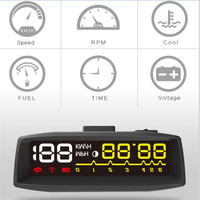 2017 ActiSafety 4F Car OBD2 II EUOBD HUD Head Up Display Car HUD KM/h MPH Overspeed Warning Windshield Projector Alarm System