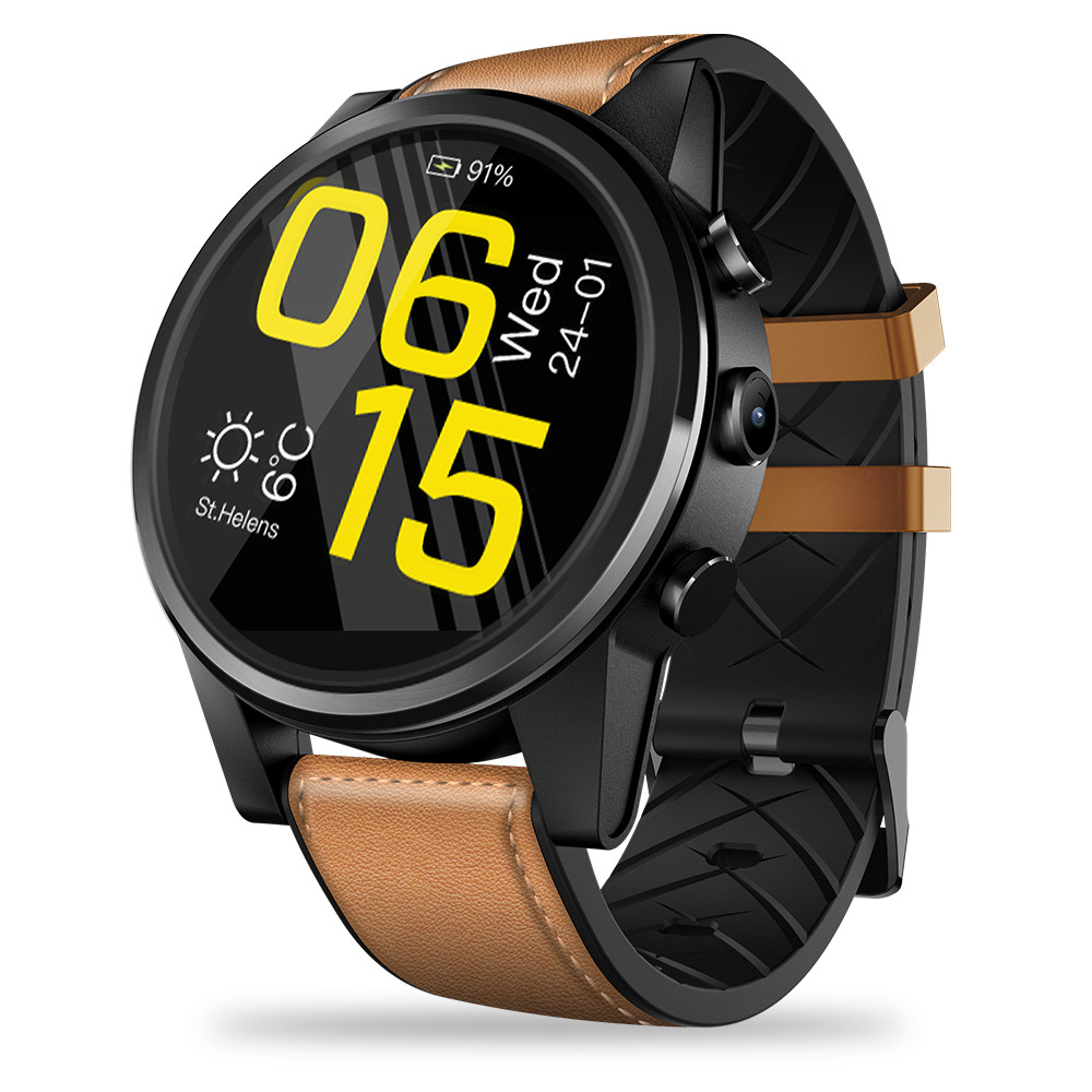 Fashion Smart Watches for Sports 1.6 inch Crystal Display GPS/GLONASS Quad Core 16GB 600mAh Hybrid Leather Strap Smart Watch Men