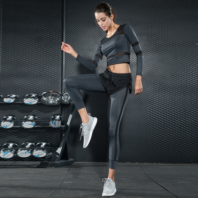 Women Sportswear Running Yoga Set Workout Tights Sexy Training Clothes Gym  Fitness Clothing Sport Active Wear Jogging Suits 2pcs-in Yoga Sets from  Sports ... 30c87ed67010