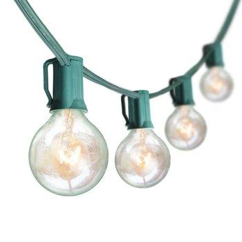 G40 lámpara de filamento de tungsteno 10 lámpara patio decoración del Festival lámpara UL certificación UL está disponible