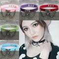 Fine quality Punk Collar Choker Necklace Harajuku PU Leather Choker Punk Goth 100% Handmade Neck Jewelry