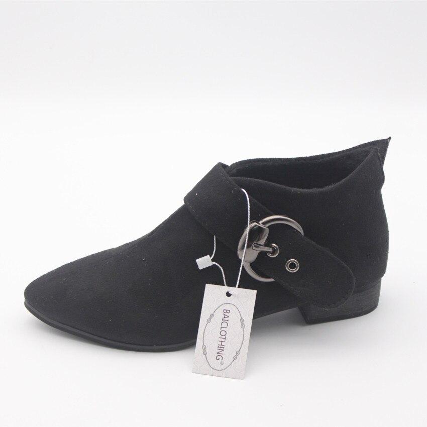 de266e460 Botas femininas mulheres BAICLOTHING bonito tornozelo preto botas ...