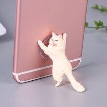 Phone Holder Cute Cat Tablets Desk Sucker Support Resin Mobile Stand holder Design Animal for Smartphone
