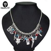 Latest Summer Accessory Supernatural necklaces pendants Gun Star Sword Choker Necklace Supernatural Collar Women Jewelry
