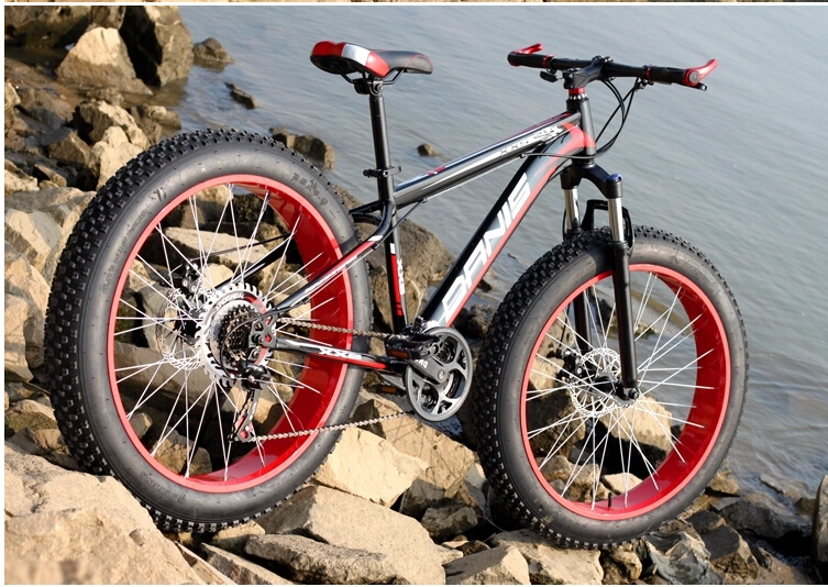 (RUSSIA ONLY)Big Tire bicicleta snow mountain bike 26 inch 24speed mountain bike Bicycle free shipping 26 inch 7 21 27speed cross country mountain bike aluminum frame snow beach 4 0 oversized bicycle tire dirt bikes for men
