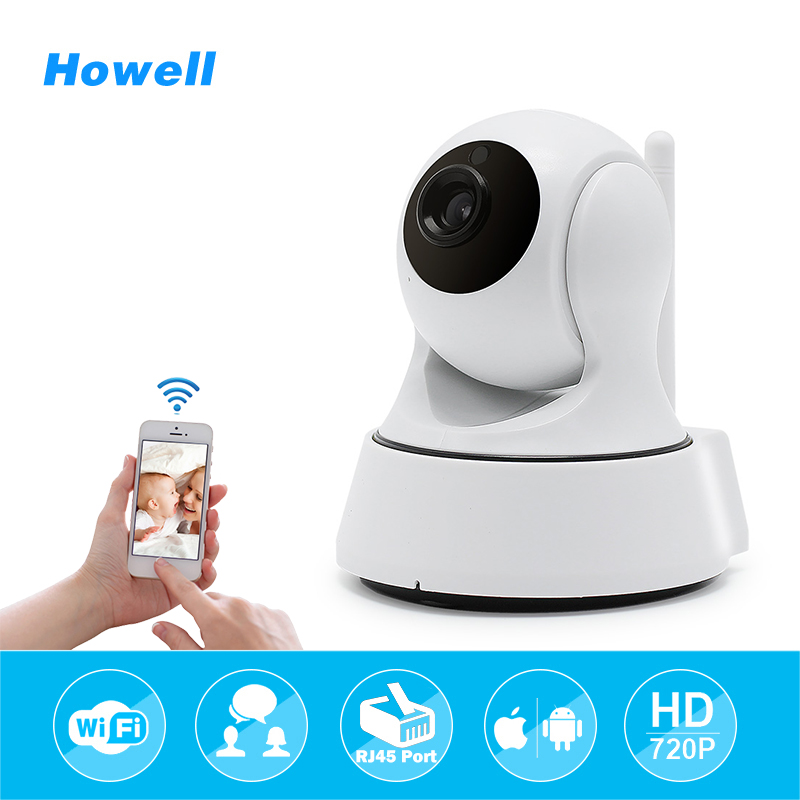 Howell 720P HD Wireless Wifi IP Camera Home Security Surveillance Camera Onvif P2P IR-Cut P/T Night Vision CCTV Indoor Camera