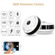 Babykam 960 pワイヤレスipカメラのwi-fi魚眼レンズ360度全景ミニcctvカメラ1.3mpホームビデオ監視wifiカメラ