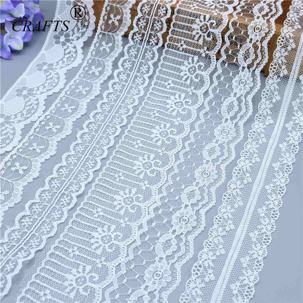 2019 Global Hot Sale 10 yards beautiful white lace ribbon European lace fabric lace sew embroidery dress accessories