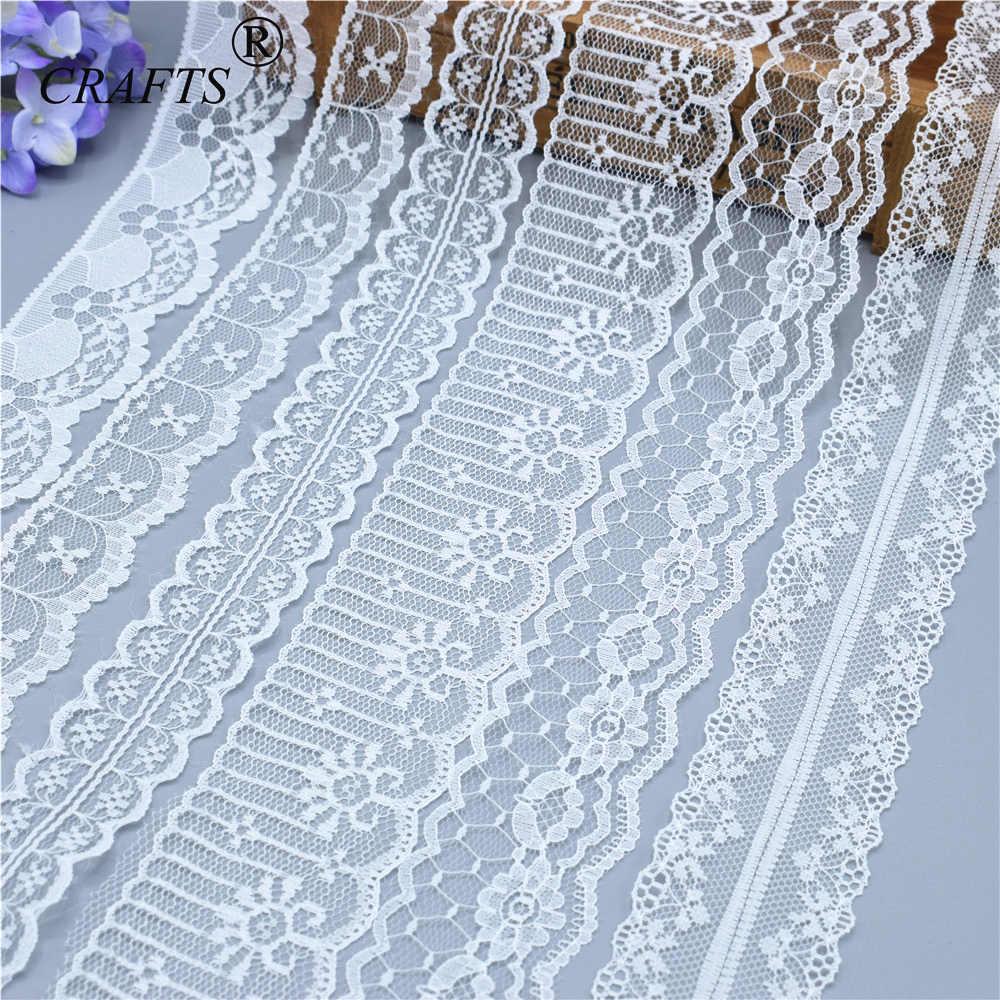 2018 глобальная горячая распродажа 10 ярдов Красивая белая кружевная лента Европейская кружевная ткань кружева шить вышивка платье аксессуары