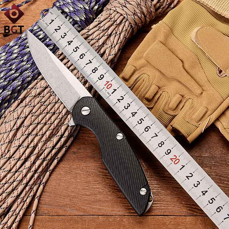 Bear 111 Folding Hunting Flipper Knife G10 Bearing Combat Survival Pocket Knives Utility Tactical Camping EDC Multi Tools hx small mercenary survival hunting knife d2 steel blade fixed blade knife straight camping knives multi tactical hand tools