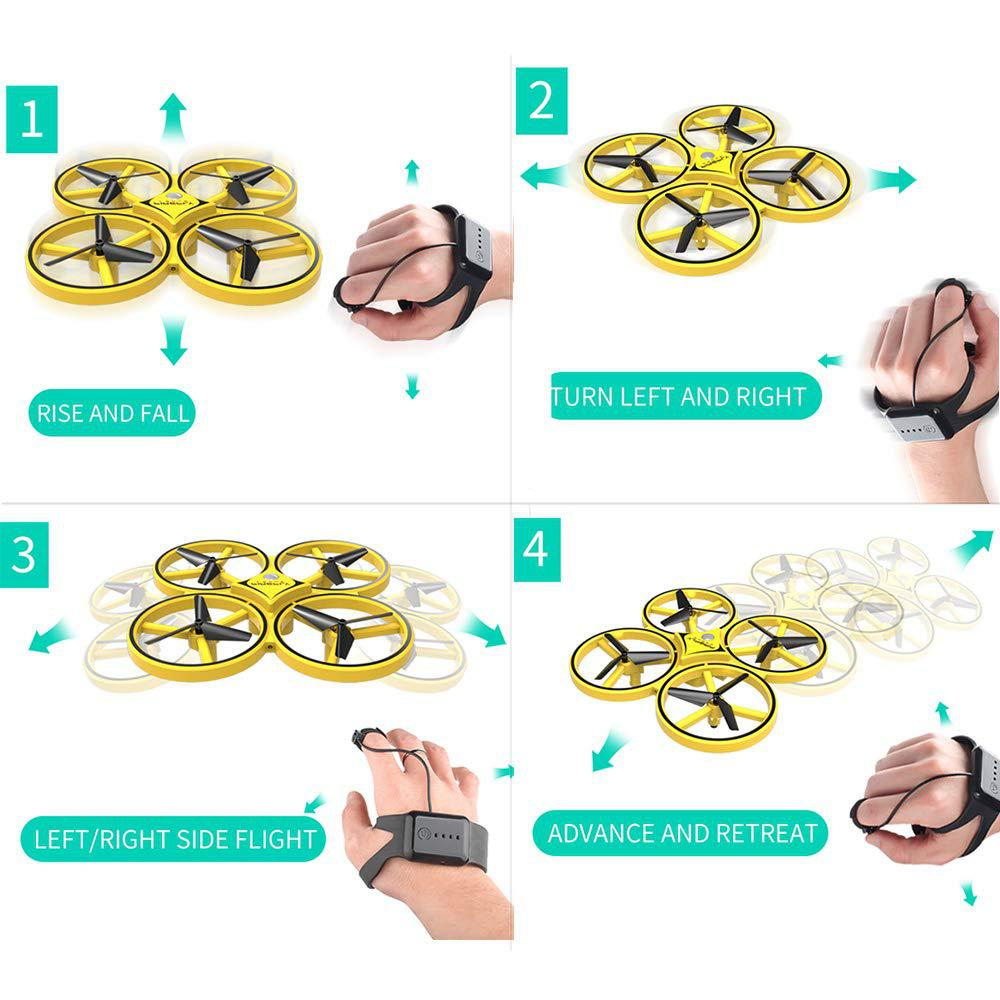 Image 3 - Mini Drone UFO Induction racing Quadrocopter Smart Watch Remote Gesture RC Aircraft Somatosensory Plane helicopter uav RC Toys-in RC Helicopters from Toys & Hobbies