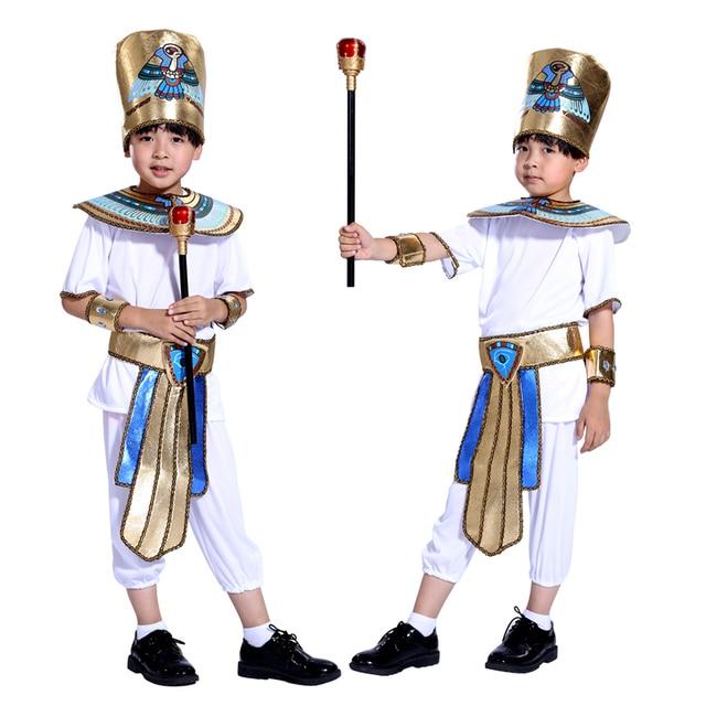 Halloween children's costume boys school performances of ancient Egyptian pharaoh prince costumes masquerade costumes