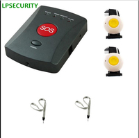LPSECURITY Wireless GSM SMS מערכת אזעקת חירום SOS 1 עד 20 לחצן מצוקה קשישים/ילדים/נכים/רפואי טיפול