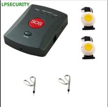Lpsecurity Беспроводной GSM SMS SOS аварийной сигнализации Системы 1 до 20 тревожная кнопка пожилых/Дети/инвалидов/медицинские уход