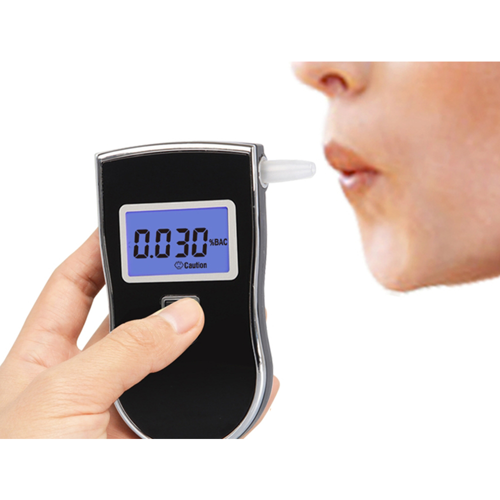 Portable Digital Alcohol Tester with 5 Mouthpieces and LCD Display Accurate Alcohol Tester Police Precise Alcohol Meter Professional Digital Alcohol Meter FEALING Alcohol Tester