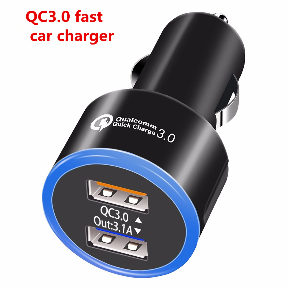 QC3.0 Dual USB Car Fast Charger Adapter Quick Charger 3.0 For Samsung Galaxy S7 S8 S9 A3 A5 A7 A8 A9 HUAWEI P20 P10 P9 P8 lite