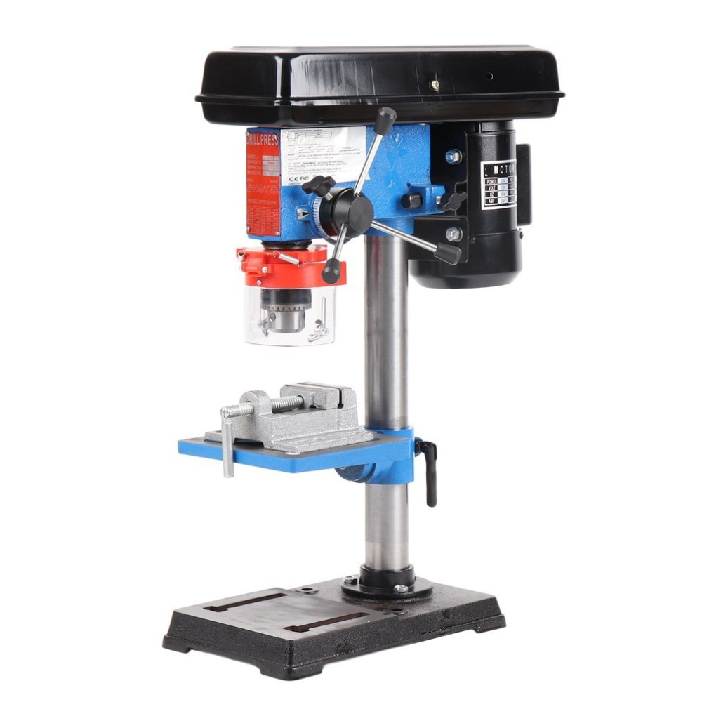 500W Industrial Rotary Pillar Drill Bench Press Stand Tool Top Mounted Drilling Device 9 Speed Drill Chuck Capacity 16mm EU Plug цена
