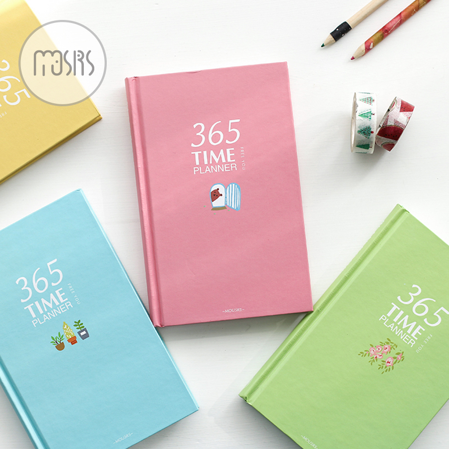 365 Day Plan Weekly Day Planner Notebook school Diary 128 sheets paper agenda planner organizer stationary product supplies gift 365 day thick hardcover personal diary