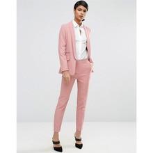 new Pants suit Design Women Business Suits Slim Female Office Uniform Formal Work Wear Single Breasted 2 Piece Set Custom Made