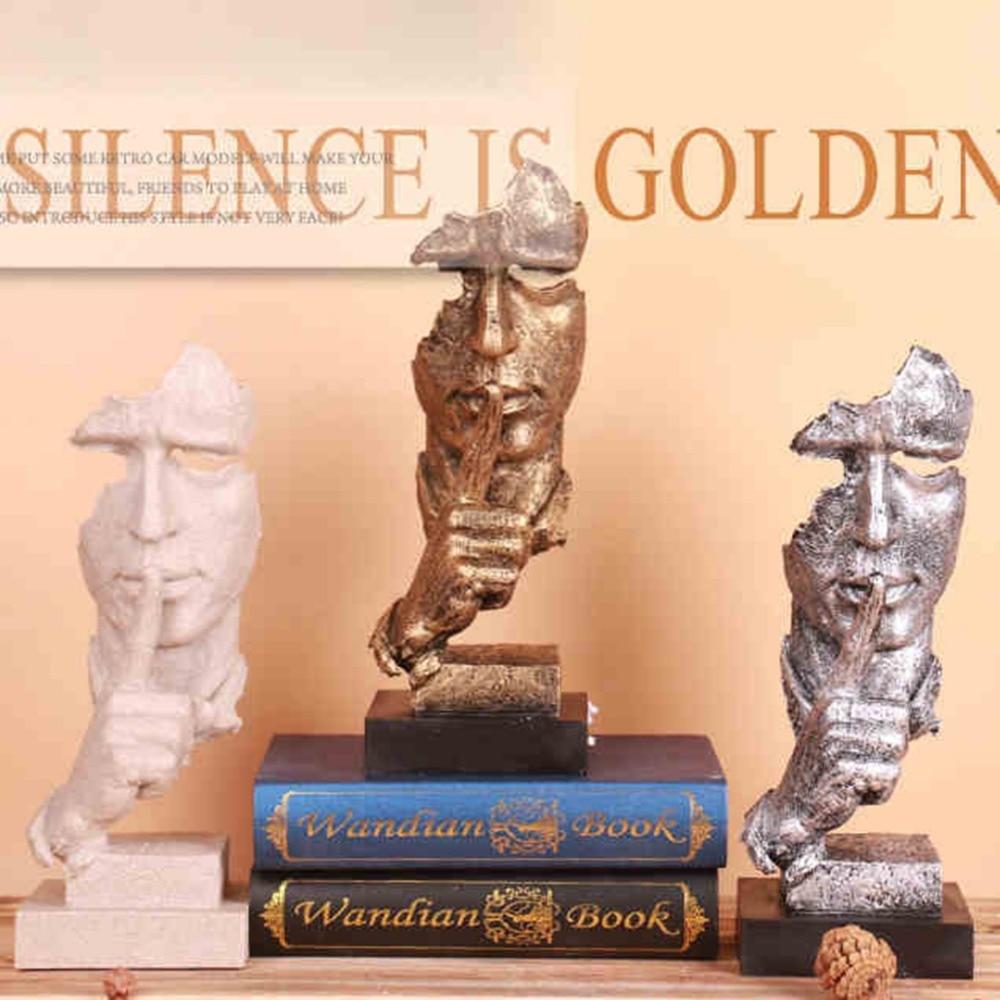 Kreative wohnzimmer kunst dekoration Stille ist goldene denker ...