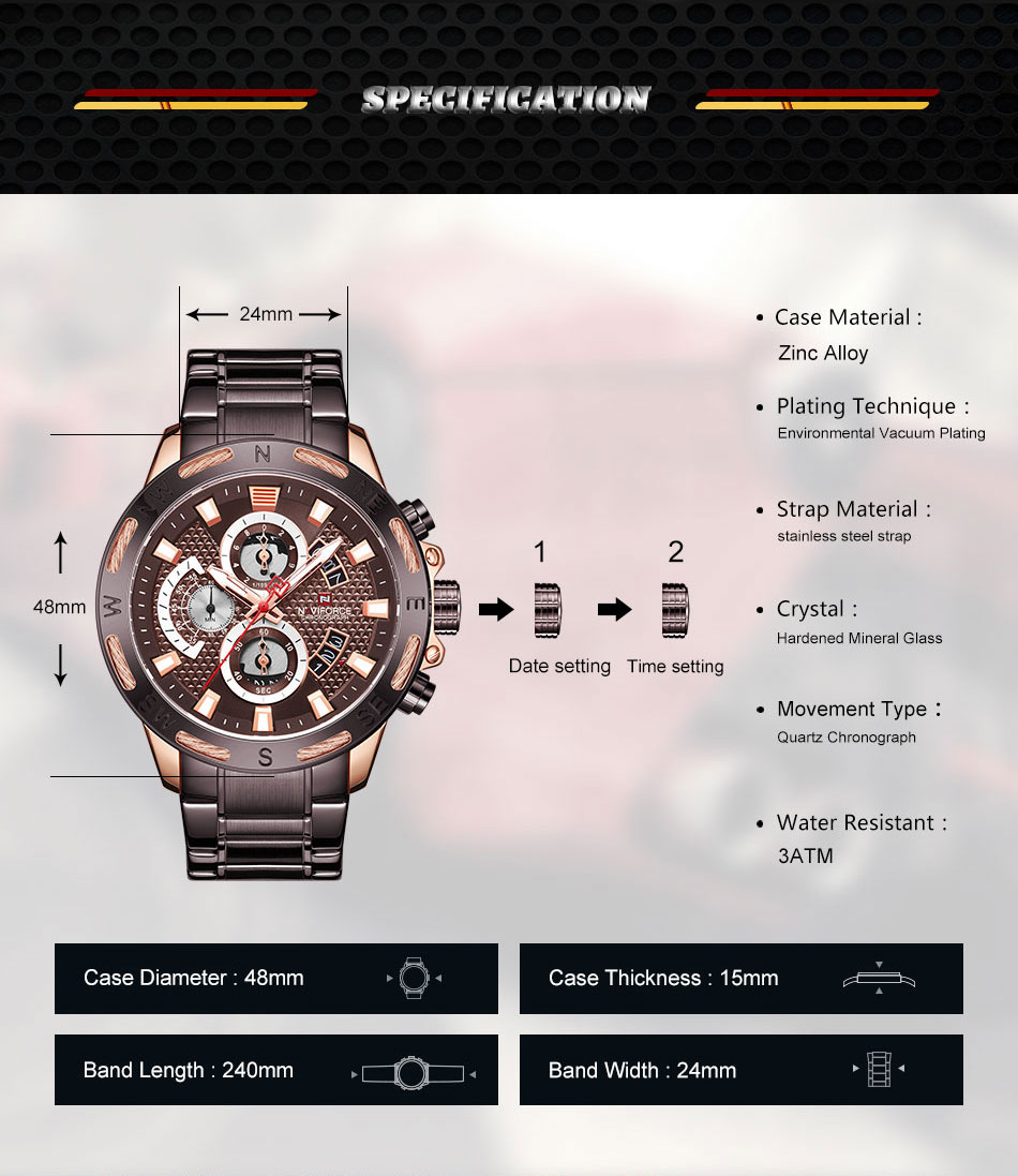 Men's Branded Watches - MiraShop