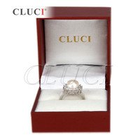 Shining Sterling Silver adjustable Pearls Ring gift set, wedding ring, Valentine's gift