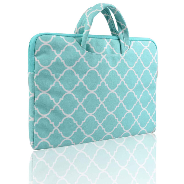 Lantern picture green Canvas Laptop handbag Case for macbook air 13 pro retina 13 pc Bag for 13.3inch Ultrabook tablet